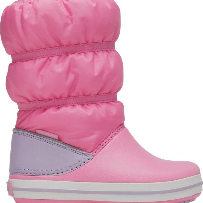 Crocs Παιδικό Μποτάκι Ροζ Κορίτσι