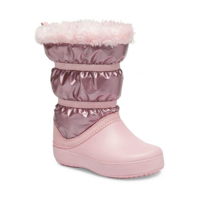 Crocs Μποτάκι Παιδικό Ροζ Κορίτσι