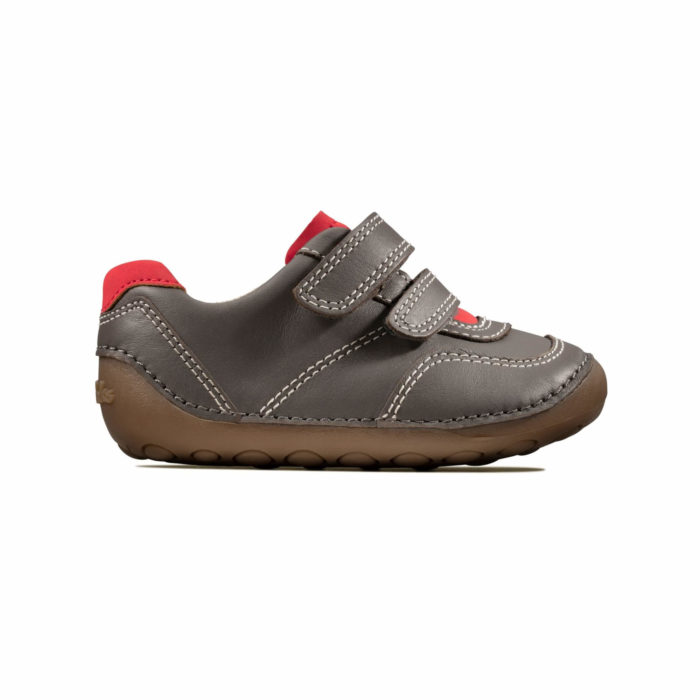 Clarks Tiny Dusk First Step Γκρι Αγόρι