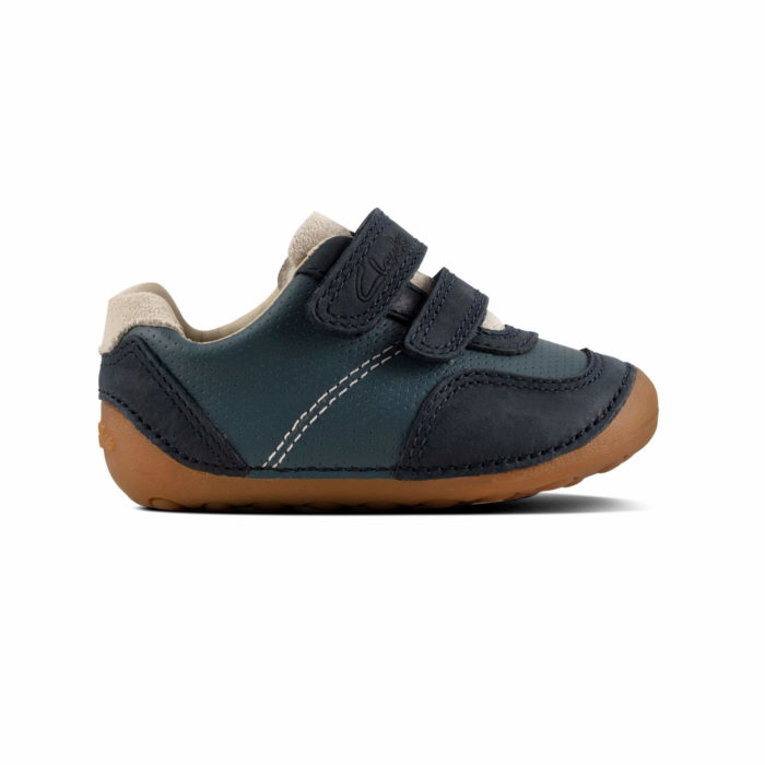 Clarks Tiny Dusk T First Step Μπλε Αγόρι