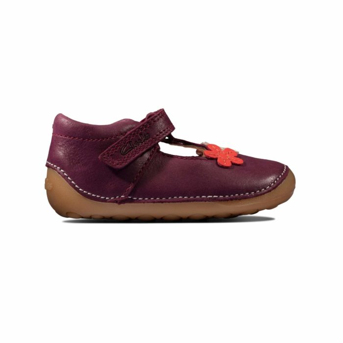 Clarks Tiny Sun T First Step Μωβ Κορίτσι